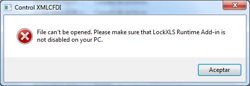LockXLS Runtime Add-in